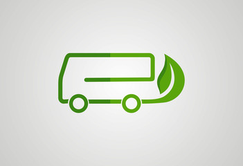 Ecology car logo vector