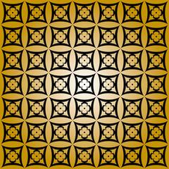 Sfondo oro con figure geometriche