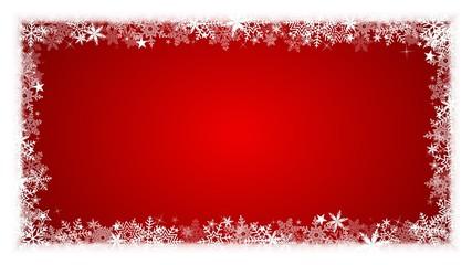 Fond encadrement 16/9 Noël, flocons et étoiles