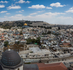 Jerusalem panorama from Church of the Redeemer