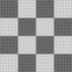 Design seamless monochrome checked pattern