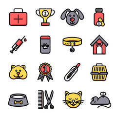 Veterinary Icon Set