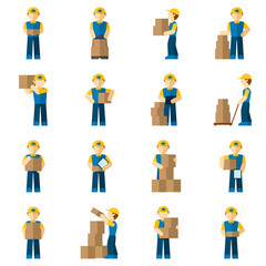 Delivery Man Icon Flat