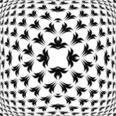 Design warped convex monochrome pattern