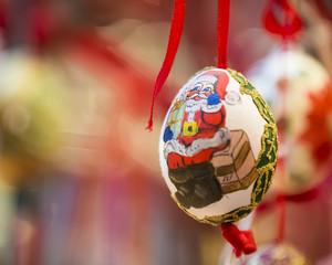 Christmas Santa Claus egg
