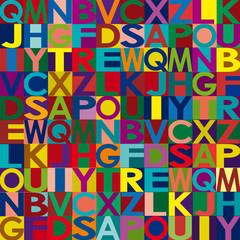 Vector alphabet background