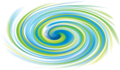 Vector swirling surface green and turquoise colors