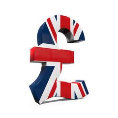 Pound Symbol with Flag