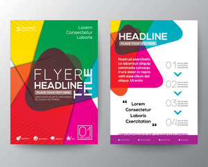 Abstract colorful Brochure Flyer design Layout vector template