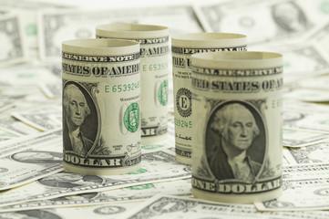 George Washington printed by a one dollar bill