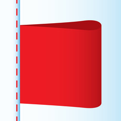 Illustration of red textile label