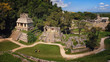 Mayan ruins in Palenque, Chiapas, Mexico. Palace and observatory - 74713808