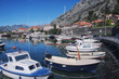 Pier with Yachts in Bay of Kotor, Montenegro
