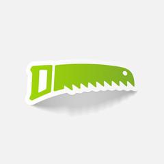 realistic design element: hand saw