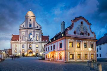 Old town of Altötting with Basilika St. Anna, Bavaria, Germany