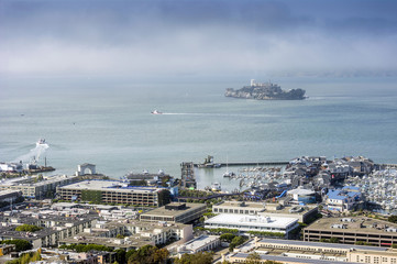 Alcatraz and San Francisco harbor
