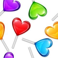 Heart Lollipops Pattern