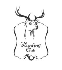 Hunting club badge