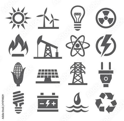 Energy icons - 74714829
