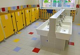 Fototapety large bathroom of a nursery without people