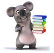 canvas print picture - Fun koala