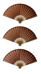 évantails bruns