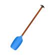 Sporting oar in blue design with wooden handle