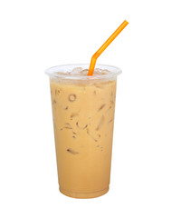 Iced Coffee isolated on white background