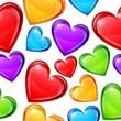 Obrazy na płótnie, fototapety, zdjęcia, fotoobrazy drukowane : Heart Candies Pattern