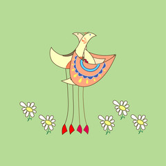 Dearness (two birds with flowers)
