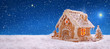 Holiday Gingerbread house . - 74716209