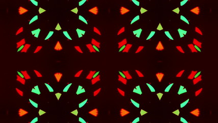 Flashing Kaleidoscope rays as abstract background