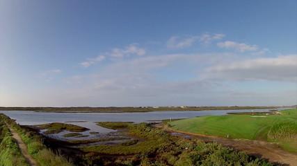 Algarve golf course scenery, golf destination, Portugal.