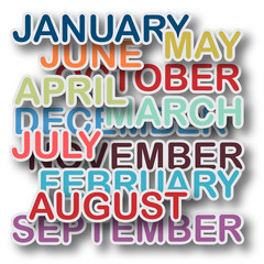 Vector Months background