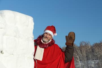 The man in Santa Claus's suit