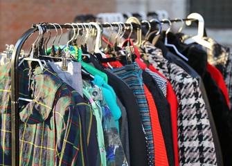 vintage style clothes  for sale at  flea market