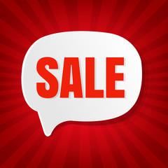 Christmas Sale Speech Bubble