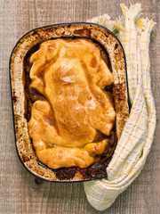 rustic meat pie