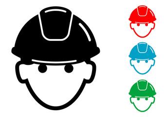 Pictograma icono obrero con varios colores
