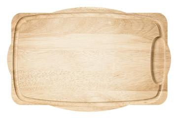 Brown light wooden cutting board.
