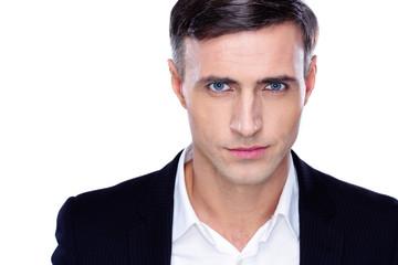 Portrait of a confident businessman over white background