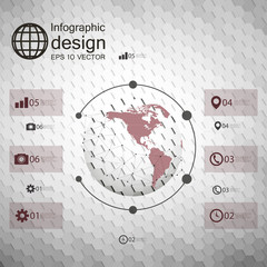 Infographic template for business design, hexagonal design