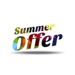 Summer Offers Colorful Vector Icon Design