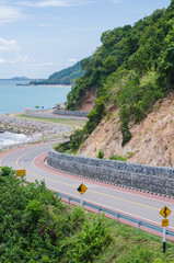 The Chalerm Burapha Chonlathit scenic road in Chanthaburi provin