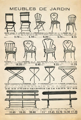 Garden furniture poster