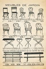 Garden furniture poster