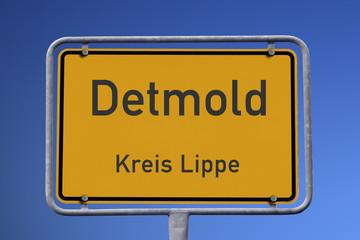 Ortseingangsschild Detmold