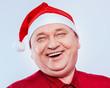 Christmas senior man laugh
