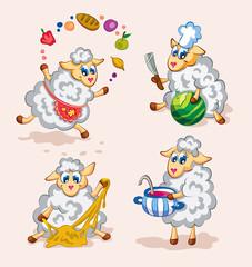 Little  sheeps cook