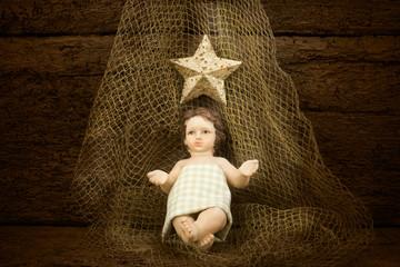 Christmas Child Jesus on a fishing net